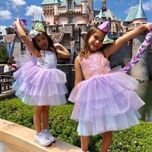 Sequin tutu Unicorn pastel dresses